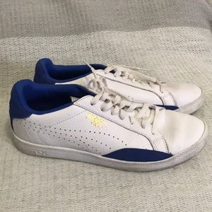 Puma Match blue & white leather sneakers